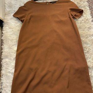 Brown t-shirt flowy dress